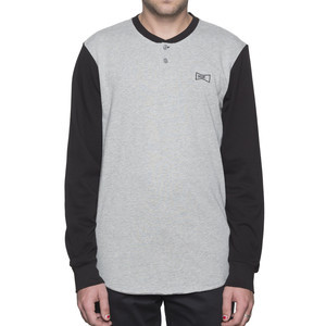 HUF Clubber Henley Shirt - Black/Grey
