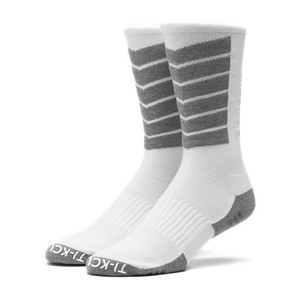 HUF Performance Plus Crew Socks - White/Grey Heather