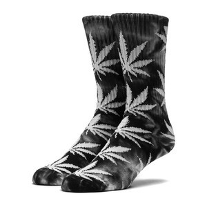 HUF Tie-Dye Plantlife Socks - Black & White