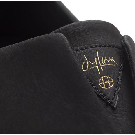 HUF Dylan Slip-On Skate Shoe - Black Leather