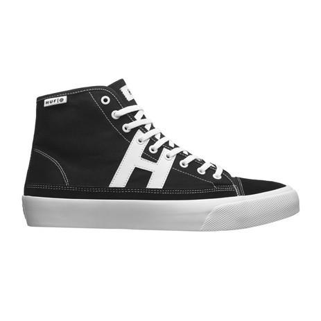 HUF Hupper 2 Hi Skate Shoe - Black / White