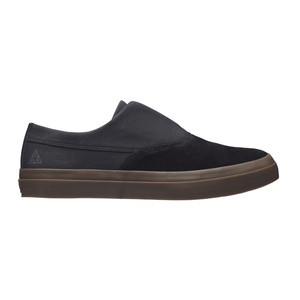 HUF Dylan Slip-On Skate Shoe - Black/Dark Gum