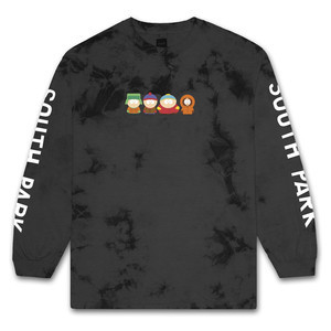 HUF x South Park Long Sleeve T-Shirt - Crystal Wash/Black