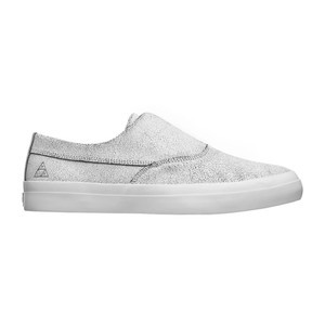 HUF Dylan Slip-On Skate Shoe - Cracked White/Black