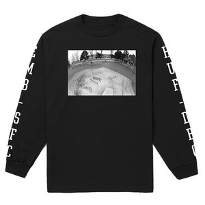 HUF x EMB C-Block Long Sleeve T-Shirt - Black