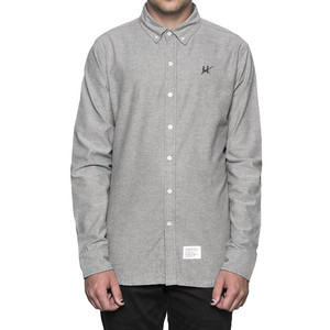 HUF Milspec Oxford Shirt - Grey/Black