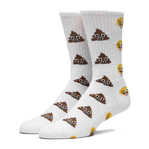 HUF Shit Head Crew Sock - White