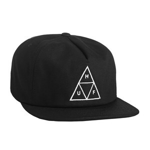 HUF Triple Triangle Snapback - Black