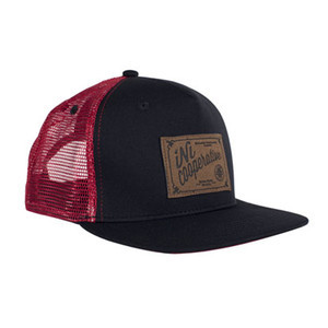 INI Roots 5-Panel Snapback Hat - Black/Red