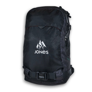 Jones Further 24L Backpack 2018 - Black Topo
