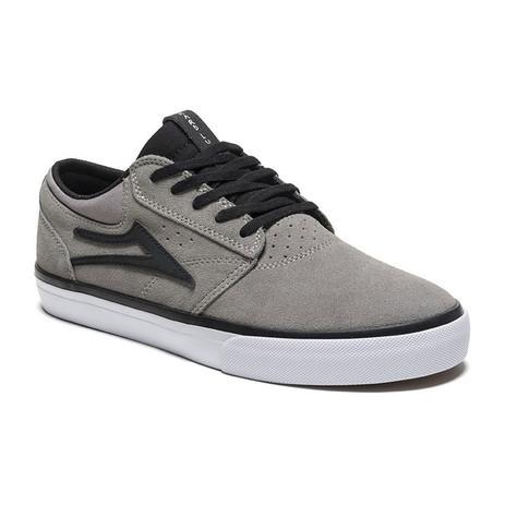 Lakai Griffin Skate Shoe - Grey/Black Suede