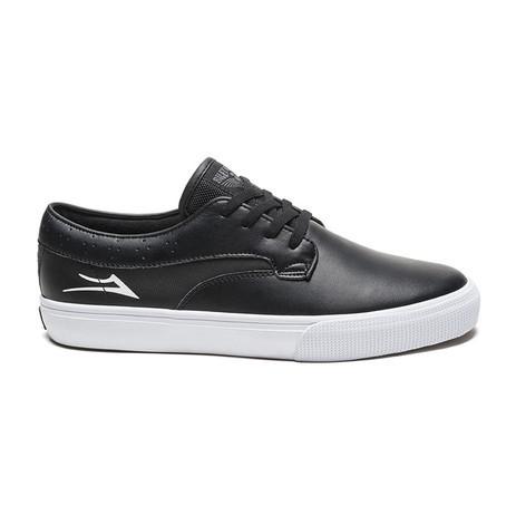 Lakai Hawk Skate Shoe - Black Leather