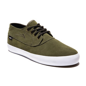 Lakai Camby Mid Skate Shoe — Military Suede