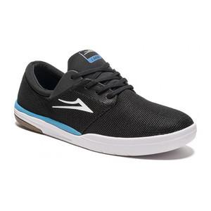 Lakai Fremont Shoe - Black/Cyan Mesh