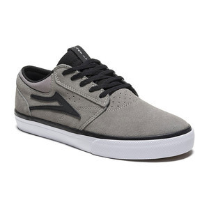 Lakai Griffin Skate Shoe - Grey/Black Suede