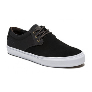 Lakai Marc Johnson Skate Shoe - Black/White Suede