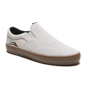Lakai Owen Skate Shoe - White Suede