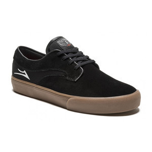 Lakai Hawk Skate Shoe - Black/Gum