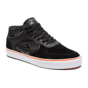 Lakai x Thrasher Carroll Mid Skate Shoe - Black/Orange