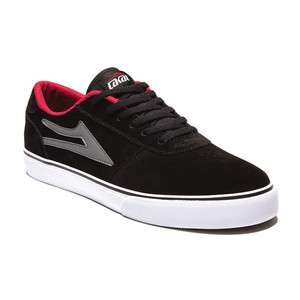 Lakai Manchester Skate Shoe — Black/Grey Suede