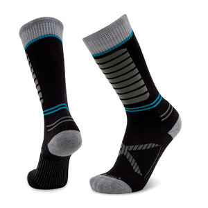 Le Bent Little Feet Kids' Snowboard Socks - Black