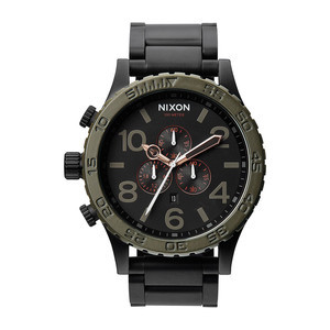 Nixon 51-30 Chrono Watch - Matte Black/Industrial Green