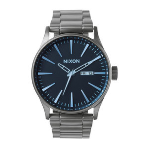 Nixon Sentry SS Watch - Gunmetal/Blue Crystal