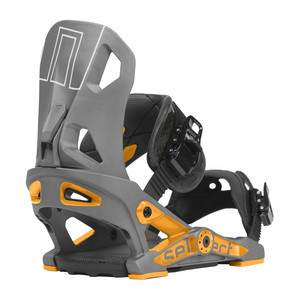 Now Select Snowboard Bindings - Gunmetal/Orange
