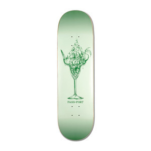 "PASS~PORT Burning 8.25"" Skateboard Deck - Drinks"