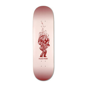 "PASS~PORT Burning 8.38"" Skateboard Deck - Pool Man"
