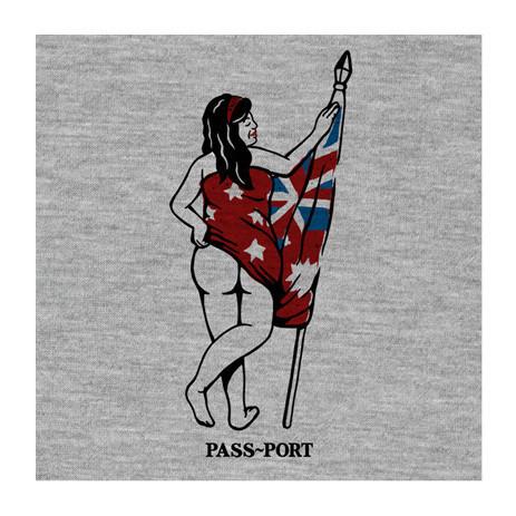PASS~PORT Flag Bearer T-Shirt — Heather
