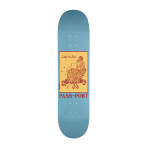 "PASS~PORT Pozter 8.5"" Skateboard Deck - Lady in Red"