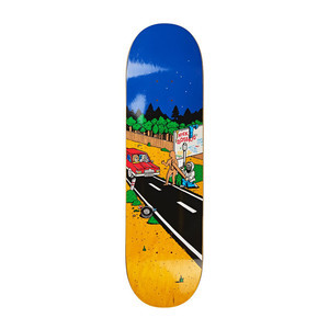 """Polar Boserio Welcome to Perth 8.25"""" Skateboard Deck - Yellow"""