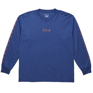 Polar Racing Long Sleeve T-Shirt - 80s Blue / Orange