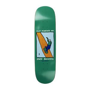 "Polar Brady Minding My Own Business 8.5"" Skateboard Deck - Green P2 Shape"