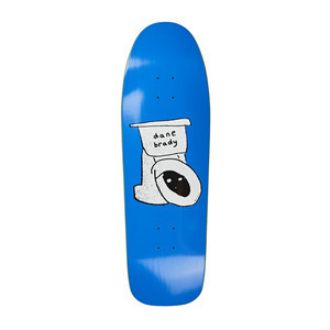 Polar Brady Toilet D1 Shape Skateboard Deck - Blue