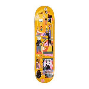 "Polar Grund Frequency 8.0"" Skateboard Deck - Yellow"