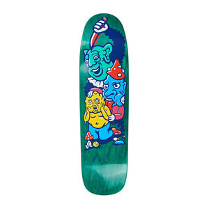 Polar Grund Meltdown P9 Shape Skateboard Deck - Green