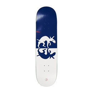 "Polar Boserio Sneaking Dog 8.5"" Skateboard Deck - Blue/White"