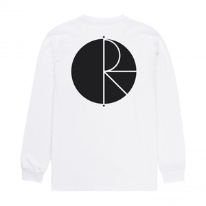 Polar Fill Logo Long Sleeve T-Shirt - White