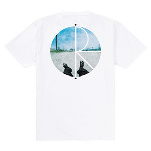 Polar Happy/Sad Fill Logo T-Shirt - White