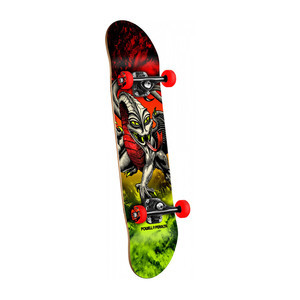 "Powell-Peralta Caballero Dragon Storm 7.75"" Complete Skateboard - Red/Lime"