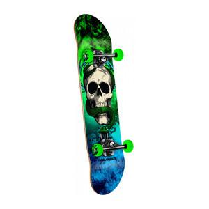 "Powell-Peralta McGill Skull & Snake Storm 7.62"" Complete Skateboard - Green/Blue"