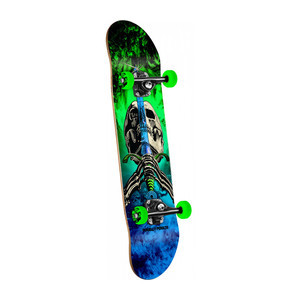 "Powell-Peralta Skull & Sword Storm 7.88"" Complete Skateboard - Green/Blue"