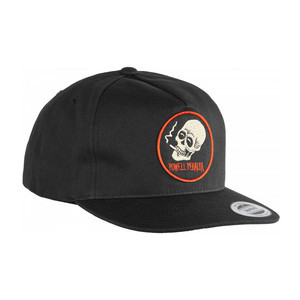 Powell-Peralta Smoking Skull Snapback Hat - Black