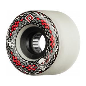 Powell-Peralta SSF Snakes 66mm Skateboard Wheels - White