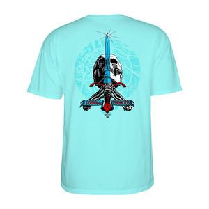 0c85e19063cb0a Powell-Peralta Triple P Skull   Sword T-Shirt - Celadon