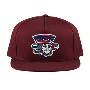 Primitive Suicide King Snapback Hat - Burgundy