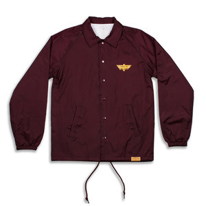 Primitive Thunder Bird Coaches Jacket - Maroon
