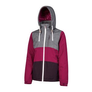 Protest Women's Clear Snowboard Jacket - Beet Red